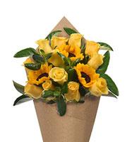 Bloom Haus Elegant Rose Bouquet - Yellow