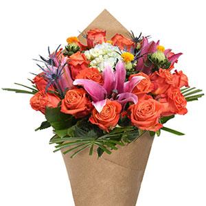 Bloom Haus Noble Rose Bouquet - Orange