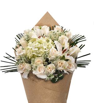 Bloom Haus Noble Rose Bouquet - White