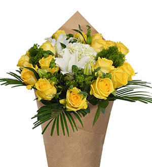 Bloom Haus Noble Rose Bouquet - Yellow