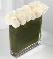 The FTD® Eloquent™ White Rose Bouquet