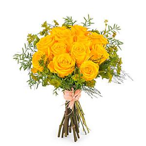 12 Short-stemmed Yellow Roses