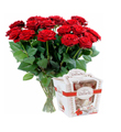 Bouquet of Roses and Raffaello Candies