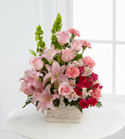 Find pink funeral flower arrangements & other sympathy gifts for the funeral home or residence in Grand Rapids, Mi or nationwide with Sunnyslope Floral