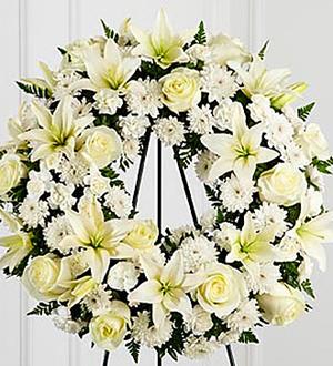 The FTD Treasured Tribute Wreath