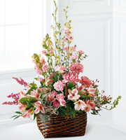Find pink flowers for sympathy and other sympathy gift ideas for same day delivery in Grand Rapids, Byron Center, Rockford and Holland with Sunnyslope Floral