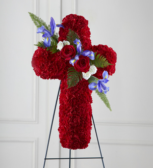 The FTD® Faithful Hero™ Floral Cross