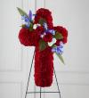 The FTD® Faithful Hero™ Floral Cross