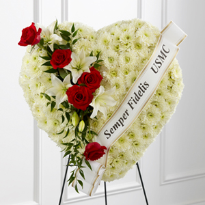The FTD® Heartfelt Hero™ Standing Heart