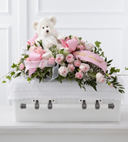 Send pink flower casket sprays & other sympathy gifts for the funeral home with Sunnyslope Floral, your same day local & world wide delivery specialists