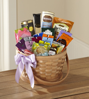 The FTD® Quiet Tribute™ Gourmet Basket