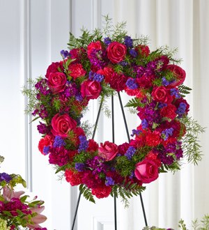 The FTD® Calming Colors™ Wreath