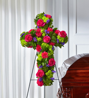 The FTD® Tribute Rose™ Floral Cross