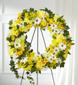 The FTD® Golden Remembrance™ Wreath