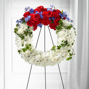 The FTD® Patriotic Passion™ Wreath