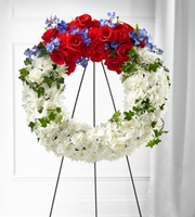 The FTD® Patriotic Passion™ Wreath