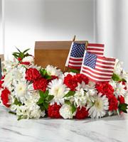 The FTD® Spirit of Patriotism™ Cremation Adornment