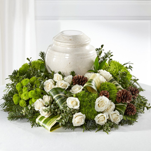 The FTD® Precious Evergreen™ Cremation Adornment