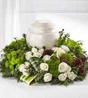 The FTD® Precious Evergreen™ Cremation Adornment