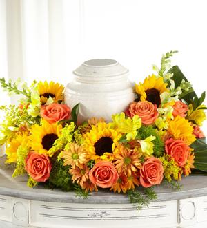 The FTD® Faithful Sunflower™ Cremation Adornment