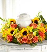 The FTD® Faithful Sunflower™ Cremation Adornment