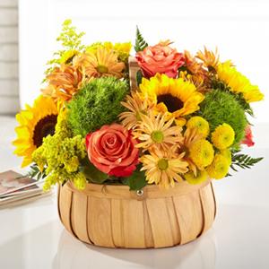 The FTD® Harvest Sunflower™ Basket