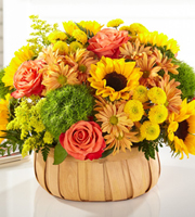 The FTD® Harvest Sunflower™ Basket