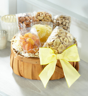 The FTD® Dried Fruit and Nuts Basket