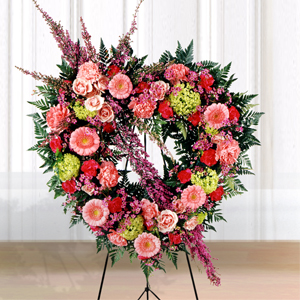 The FTD® Eternal Rest™ Heart Wreath