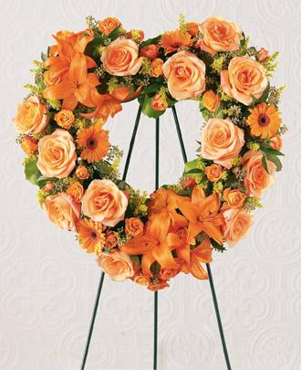 The FTD® Hearts Eternal™ Wreath