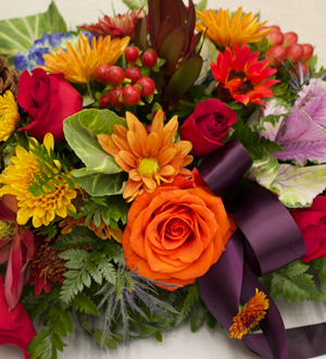 Fall Jewel Tone Centerpiece