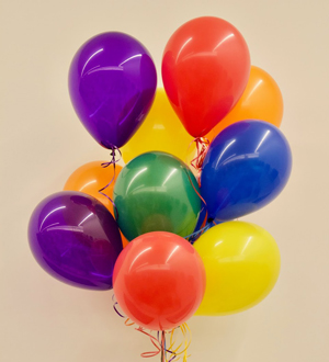Dozen Latex Balloons Rainbow