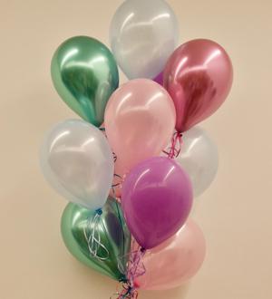 Dozen Latex Balloons Pastel Jewel Tones