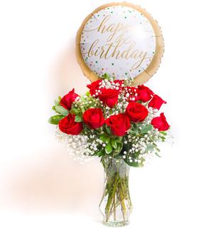 Unforgettable Dozen Rose Red Bundle Birthday