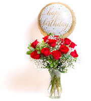 Unforgettable Dozen Rose Red Bundle Birthday