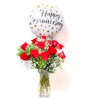 Unforgettable Dozen Rose Red Bundle Anniversary