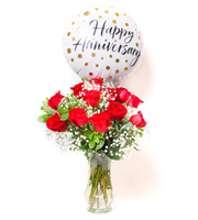Unforgettable Dozen Rose Red Bundle Anniversary