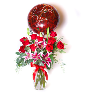 Classic Rose Lily Red Love Bundle