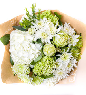 White Linen Bouquet