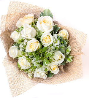 Stunning Rose Bouquet White