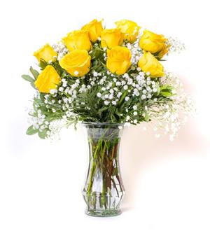 Unforgettable Dozen Rose Yellow