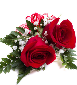 Rose Corsage Red