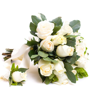 Bride Bouquet and Boutonniere Combo