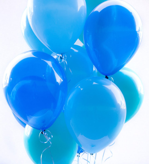 Dozen Latex Balloons Blue