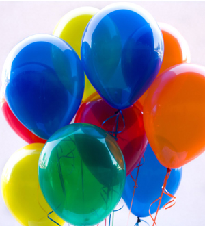 Dozen Latex Balloons Jewel Tones