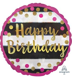Pink Gold Milestone Birthday Balloon