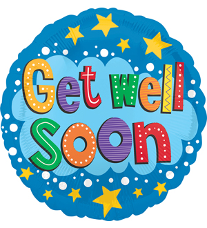 Get Well Soon Stars And Brights Balloon