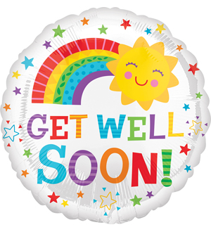 Get Well Soon Sun Balloon