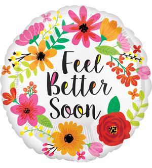 Feel Better Soon Wreath Balloon