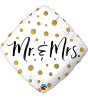 Mr. and Mrs. Gold Dots Balloon
